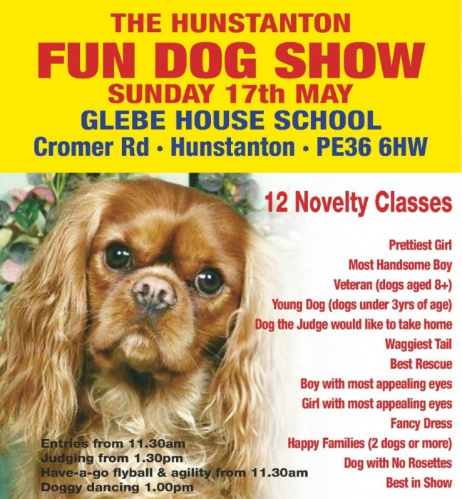 The Hunstanton Fun Dog Show, Glebe House School, Cromer Road, Hunstanton, PE36 6HW | Calling all doggies! - Come along to our fun dog show, organised by The Barking Bugle.  | Dog Show, outdoors,