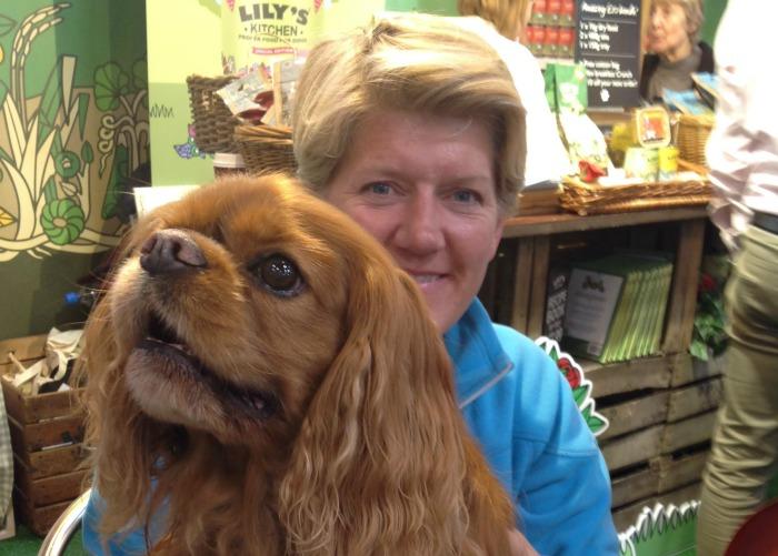 Barking Bugle Editor, Frodo, with Clare Balding