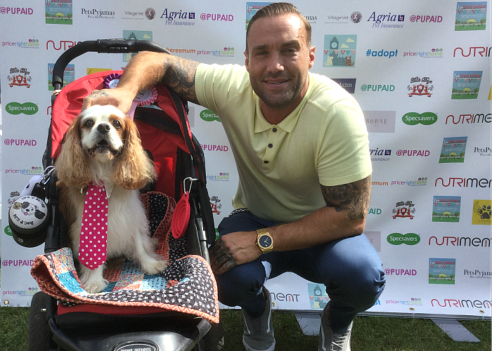 BB Deputy Editor, Gizmo, with Calum Best