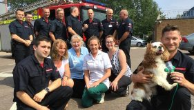 Fund raising for King's Lynn Fire Service – a success for pets!