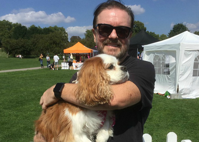 BB repawter, Gizmo with Ricky Gervais